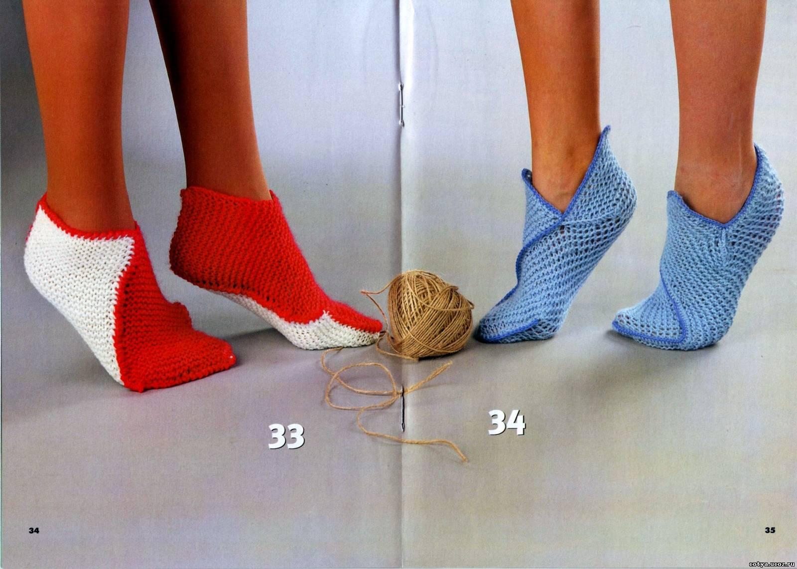 Вязание носка своими руками